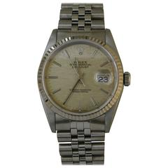 Rolex Stainless Steel Oyster Perpetual Datejust Wristwatch Ref 16234