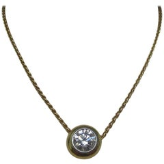 Diamond Gold Platinum Necklace