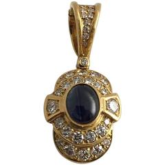 Exciting Sapphire Diamonds Yellow Gold Enhancer