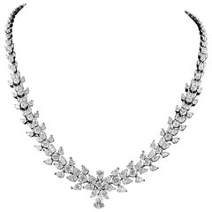 Important 15.08 Carat Diamond White Gold Necklace