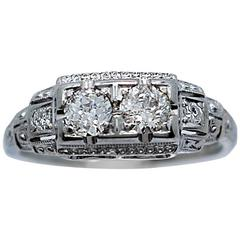 Jabel .55 Carats Diamonds White Gold Engagement Fashion Ring