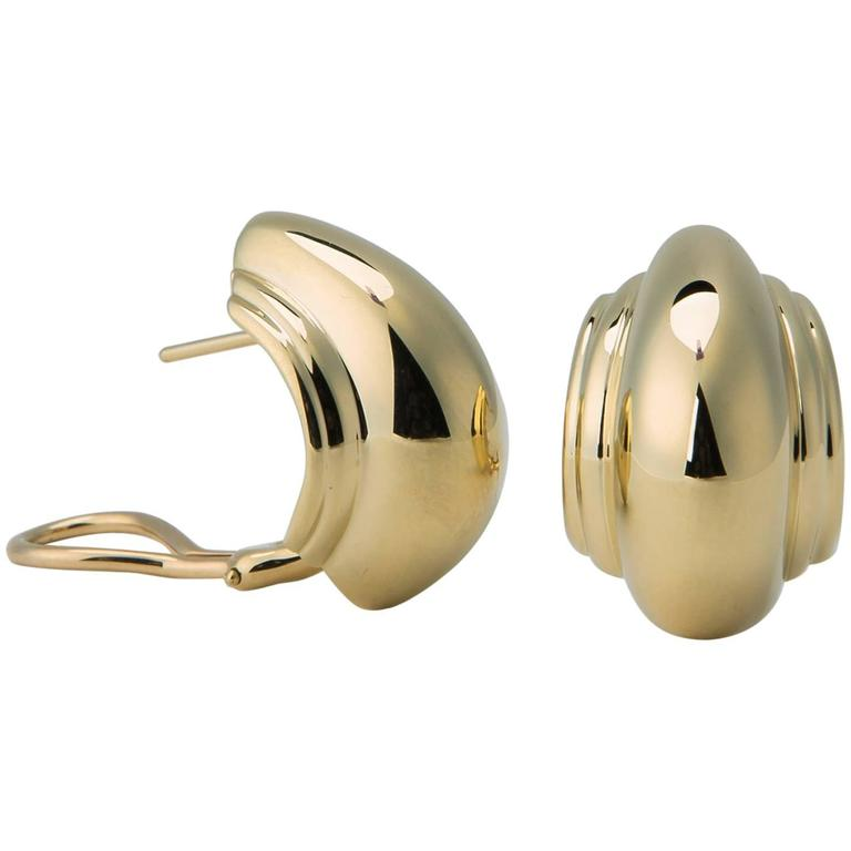 Tiffany & Co. Paloma Picasso Domed Gold Earrings 1