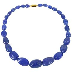 Decadent Jewels High quality Tanzanite Nugget gold Necklace