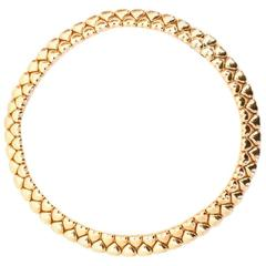 Cartier 18 Karat Yellow Gold Heart Collar Necklace