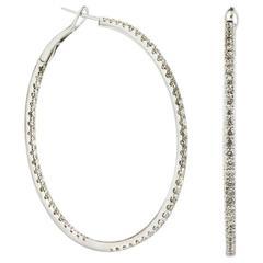 White Gold Diamonds Hoop Earrings