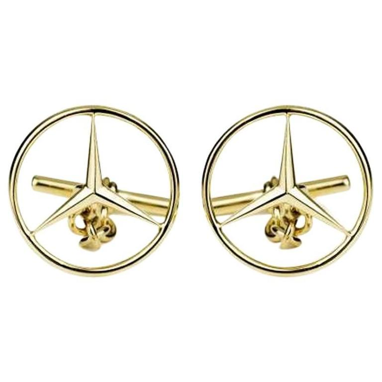 Mercedes benz emblem cufflinks for sale at 1stdibs for Mercedes benz charm