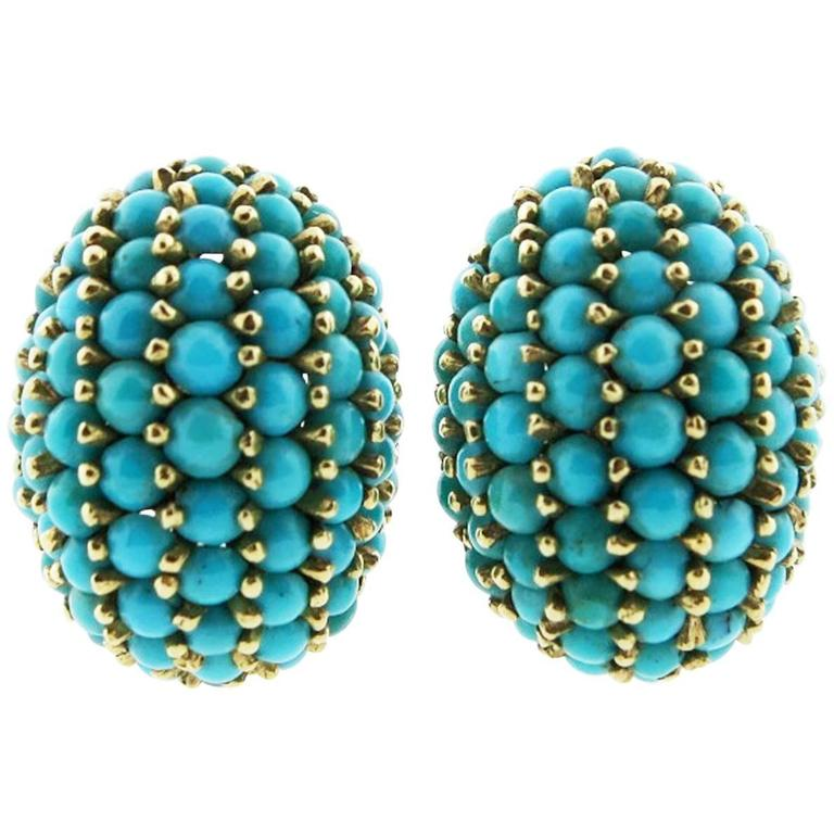 Classic Natural Turquoise Earrings