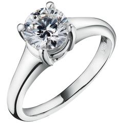 HRD Certified 1.56 Carat Diamond Engagement Ring