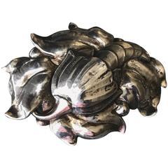 Peer Smed Very Rare Sterling Silver Cornucopia Brooch