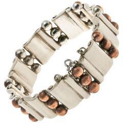 Hector Aguilar Copper Sterling Silver Bracelet