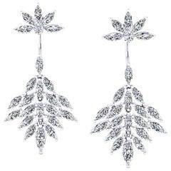 5.00 Carat Marquise Diamond Stylish Modern Earrings