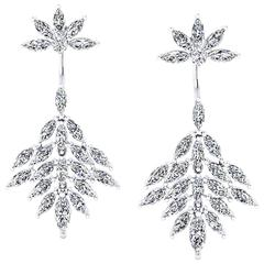 Ferrucci 5.40 Carat Marquise Diamond Stylish Modern Earrings