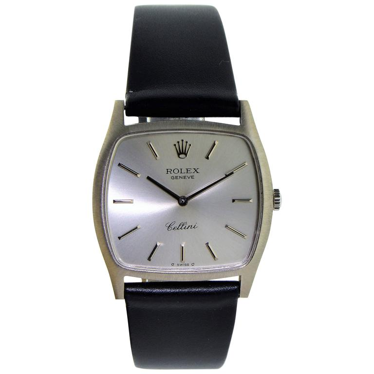 Rolex White Gold Cellini Series Dress Manual Wind Watch, 1970s