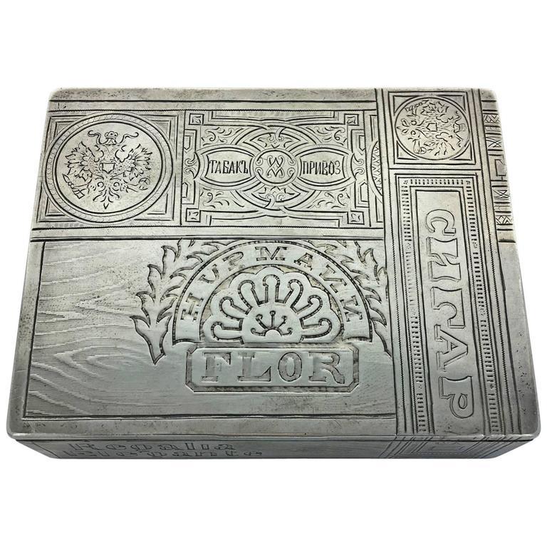 Russian Silver Cigar Box