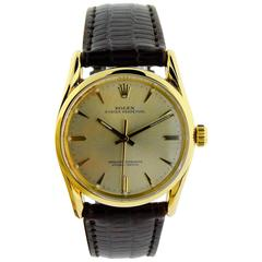 Rolex Solid Yellow Gold Oyster Perpetual Bombe Style Watch