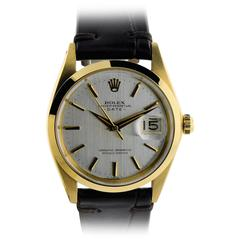 Rolex Yellow Gold Original Dial Date Chronometer Wristwatch