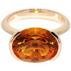 Lizunova Madeira Citrine Rose Gold Ring