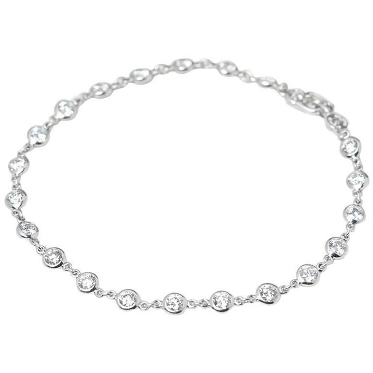 7b8807d0d8e8b Tiffany & Co. Platinum 2.30 Carat Diamonds By The Yard Bracelet