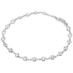 Tiffany & Co. Platinum 2.30 Carat Diamonds By The Yard Bracelet