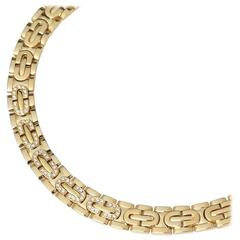 Cartier Diamond Oval Link Gold Collar Maillon Necklace