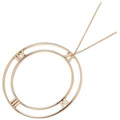 Tiffany & Co. 18 Karat Rose Gold Large Atlas Pendant Necklace