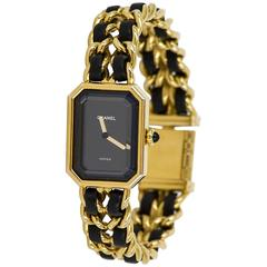 Chanel France Ladies Yellow Gold Première Quartz Wristwatch