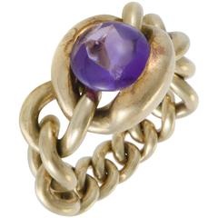 Chanel Amethyst Yellow Gold Ring