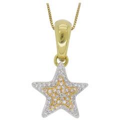 18 Karat Chimento Diamond Star Pendant