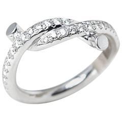 Cartier 0.32 Carat Diamond White Gold Entrelacés Ring