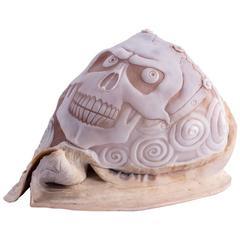 Amedeo Teschio One of a Kind Hand-Carved Sardonyx Shell