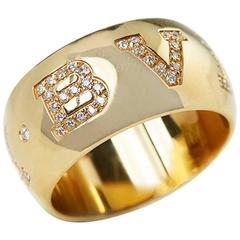 Bulgari 0.50 Carat Diamond Gold Monologo Ring