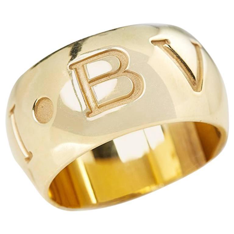 Bulgari Yellow Gold Monologo Ring
