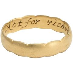Not for Riches But for Love Poesy Ring