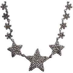 Georgian Cut Steel Star Collar