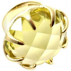 Ippolita Lollipop Extra Large Lemon Citrine Yellow Gold Ring