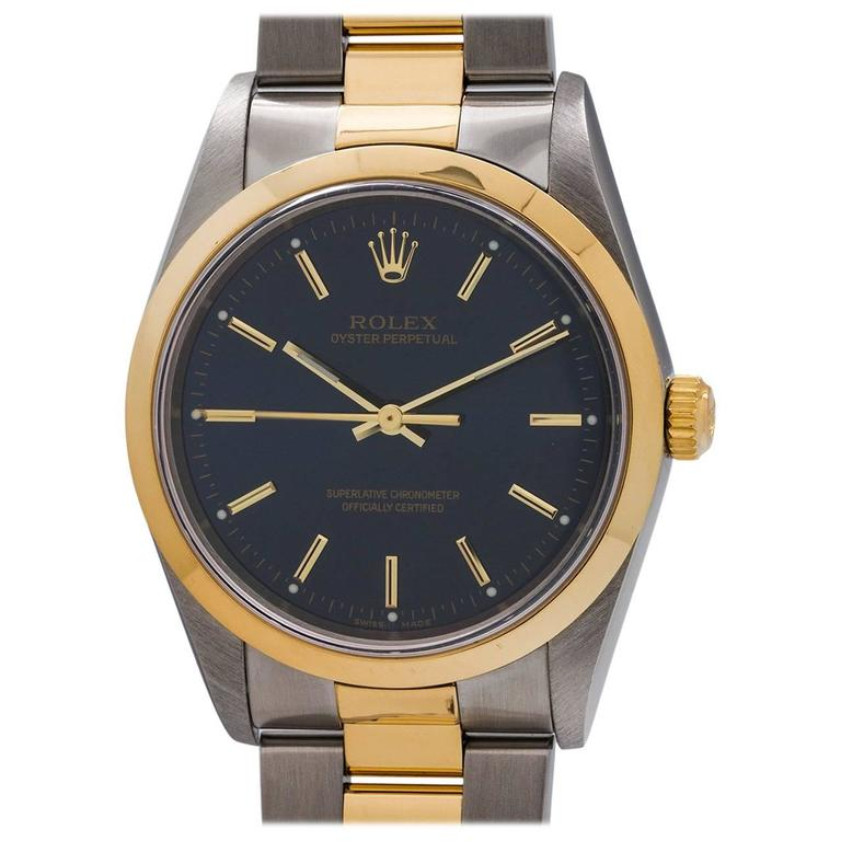 Rolex Yellow Gold Stainless Steel Oyster Perpetual Wristwatch, circa 2003 1