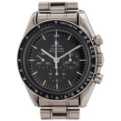 Omega Stainless Steel Case Speedmaster Man on the Moon Wristwatch, circa 1986