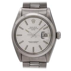 Rolex Oyster Perpetual Date Linen Dial Wristwatch Model 1500, circa 1972