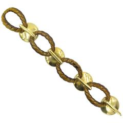 Cipullo Tiger's Eye Gold Link Bracelet