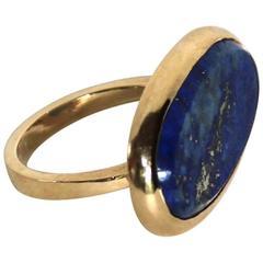 Marina J Oval Lapis Lazuli Gold Ring