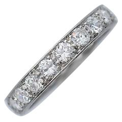 Art Deco 2.00 Carat Total Weight Diamond Platinum Eternity Band Ring