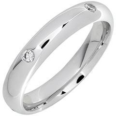 0.15 Carat Brilliant Cut White Diamonds White Gold Blaeu Wedding Band Ring