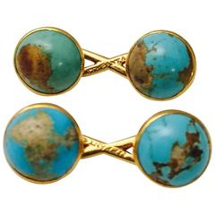 Tiffany & Co. Turquoise Gold Infinity Cufflinks