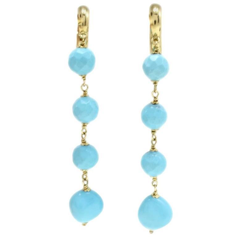 Luise Gold Stone Dangle Earrings