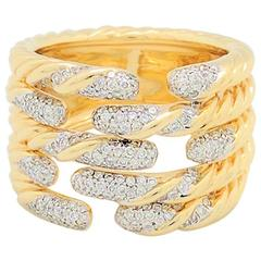 david yurman diamond yellow gold willow ring