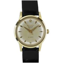 NOS Movado Yellow Gold Stainless Steel Kingmatic Seven Automatic Wristwatch