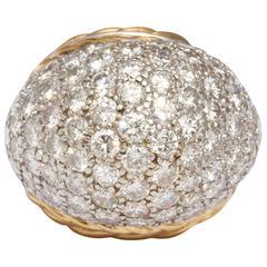 Fabulous Bombe Diamond Pave Ring