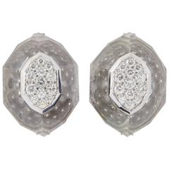 David Webb Rock Crystal Earrings