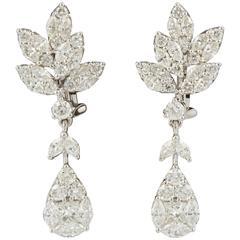 Classic Diamond Drop Gold Earrings