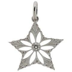 Buccellati White Gold Diamond Star Pendant